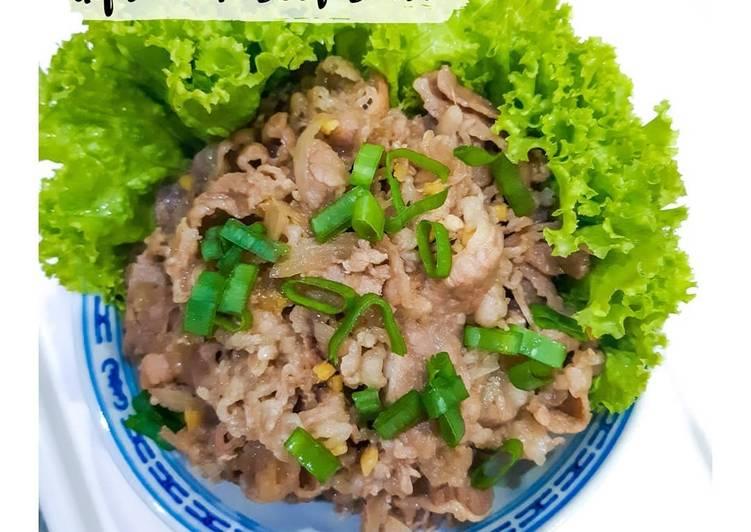 Resep Gyutan / Beef Bowl