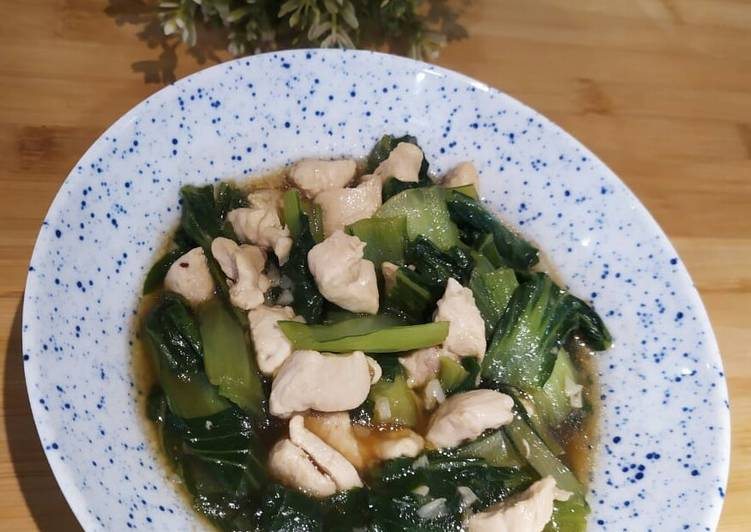Resep Tumis Pokcoy Daging Ayam