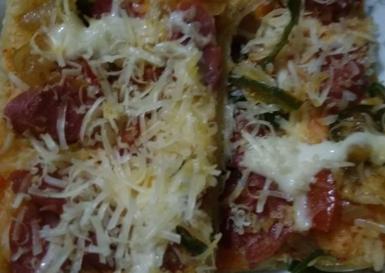 Resep Home made pizza toping seadanya