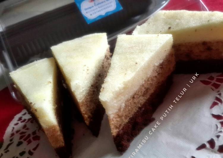 Resep Tiramisu cake putih telur