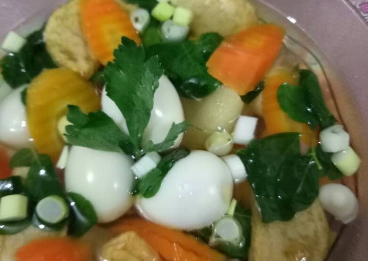 Resep Sop telur 3 in 1