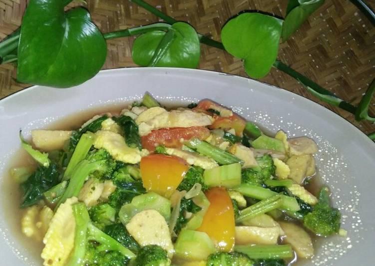 Resep *cah brokoli campur*