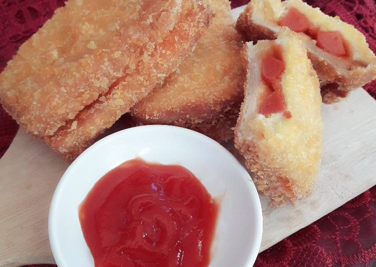 Resep Roti Sosis Goreng