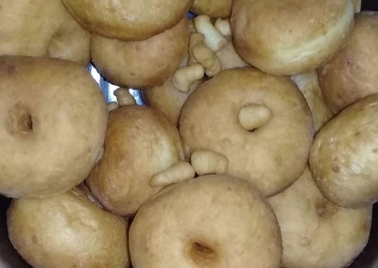 Resep Donat menul metode Sponge and Dough