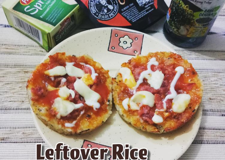 Resep Leftover Rice Mini Pizza with Seaweed Nori
