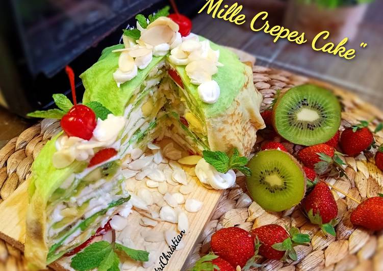 Resep Mille crepes cake