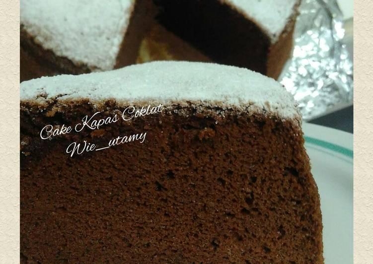 Resep Chcolate Ogura Cake / Cake Coklat Au Bain Marie