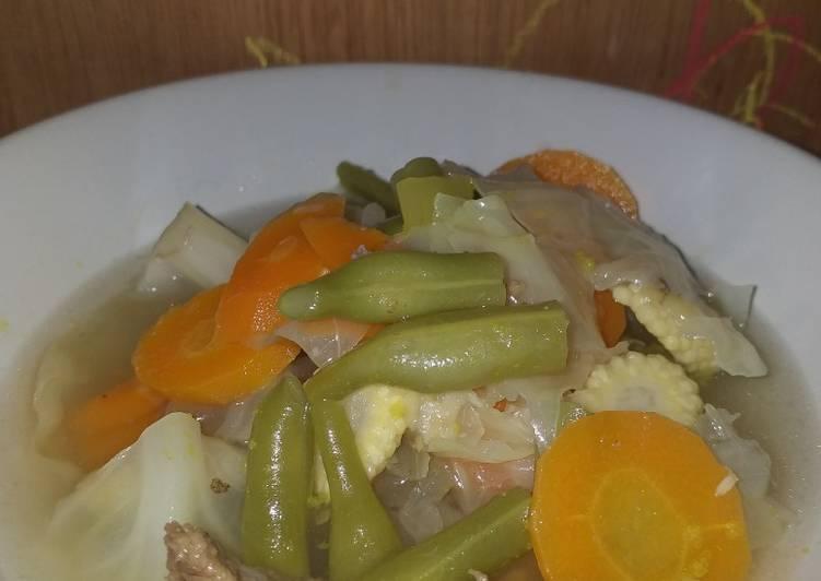 Resep Sop sayur daging sederhana