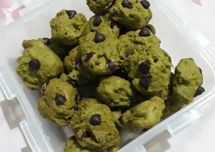 Resep Cookies matcha chocochip