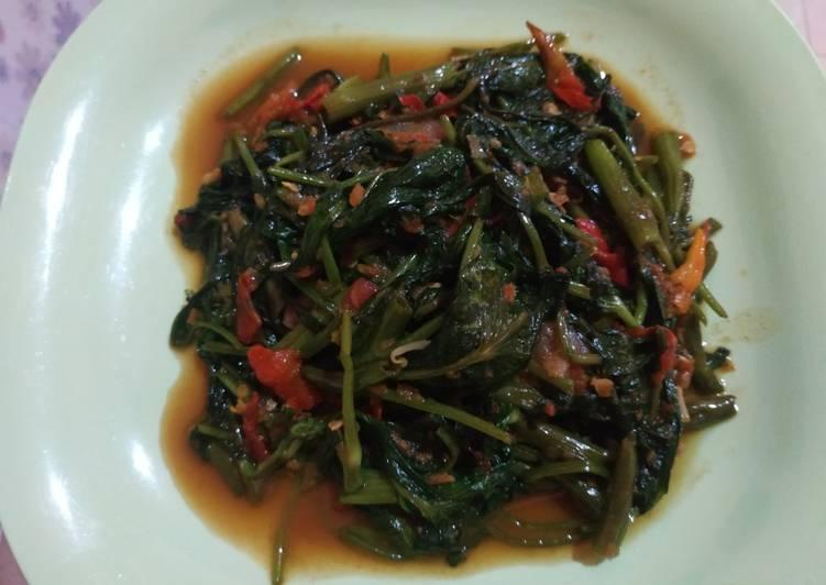 Resep Kangkung belacan (kangkung terasi)