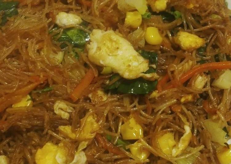 Resep Bihun goreng veggie
