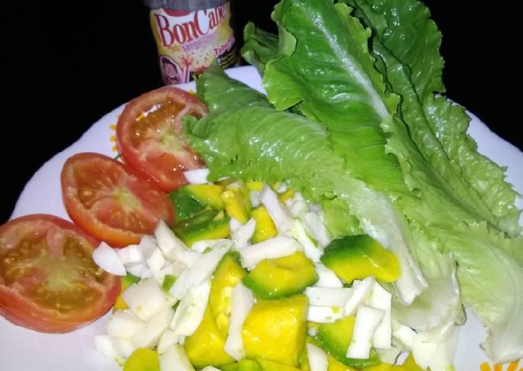 Resep Salad alpukat tabur bon cabe
