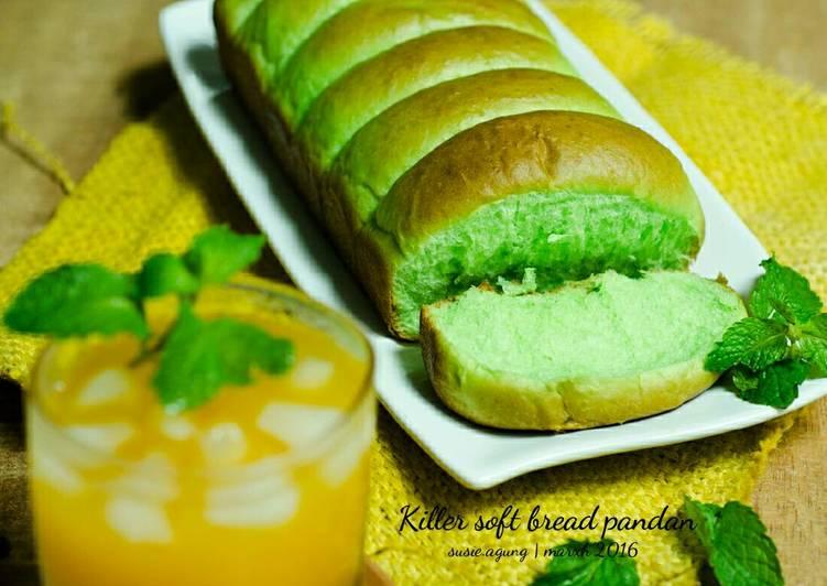 Resep Killer soft bread pandan