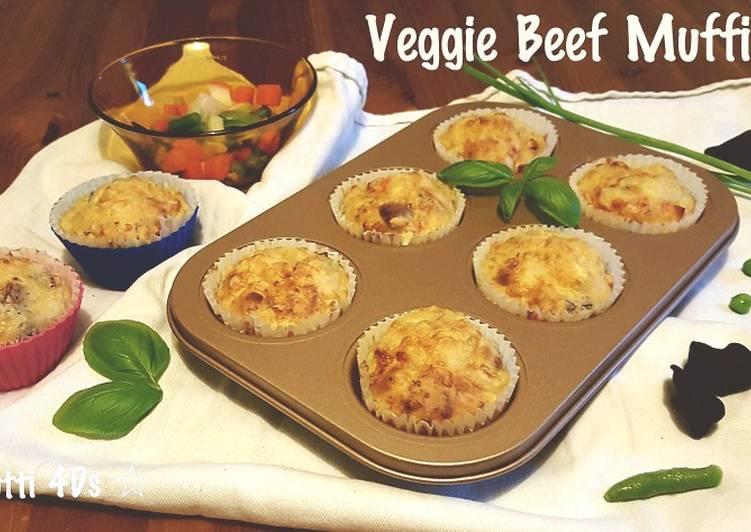 Resep Veggie Beef Muffins