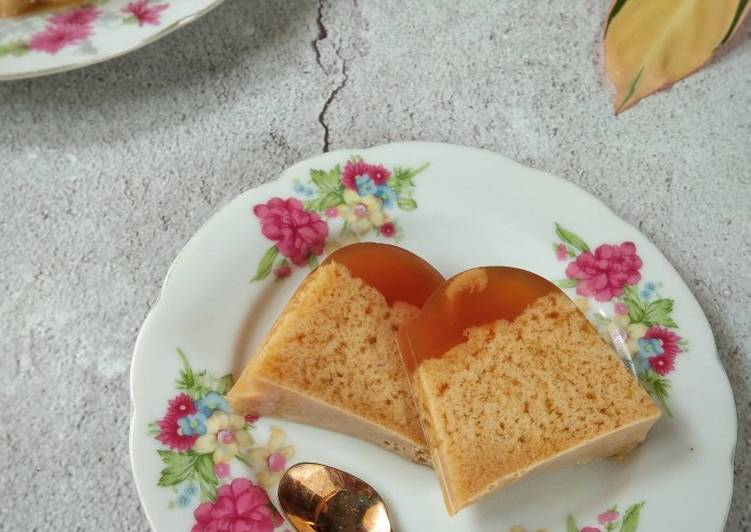 Resep Puding santan gula aren