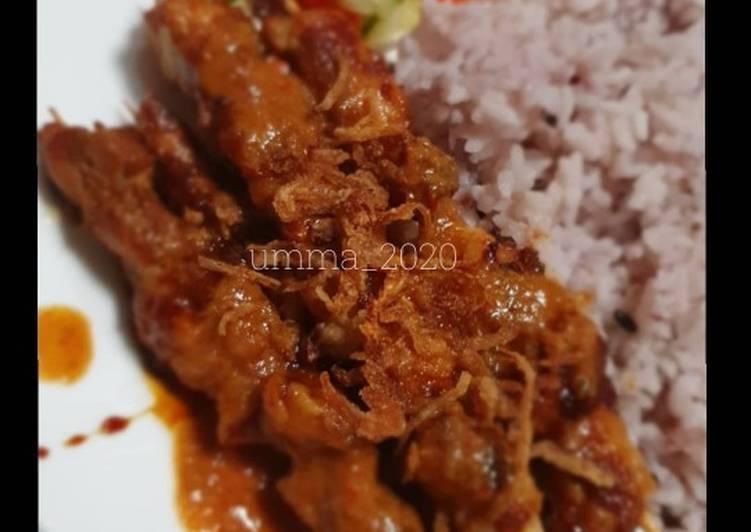 Resep Sate Ayam saus kacang