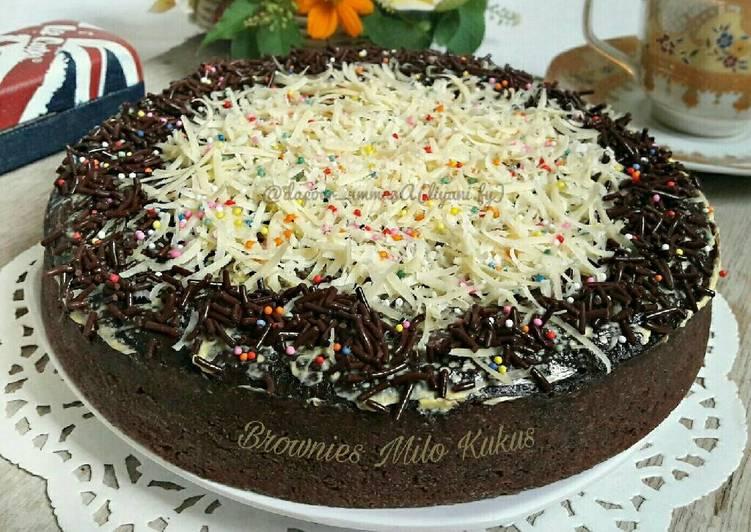 Resep Brownies Milo Kukus/#pr_adakejunya