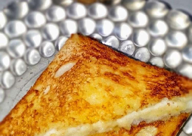 Resep Roti bakar Mozarella (teflon)