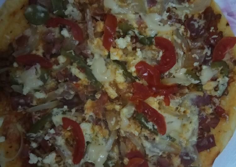 Resep Crispy thin pizza