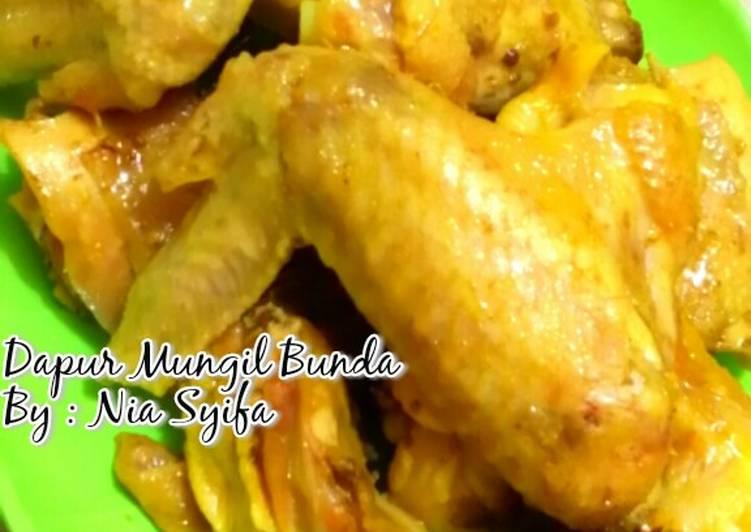 Resep Ayam Bumbu Ungkep Kuning