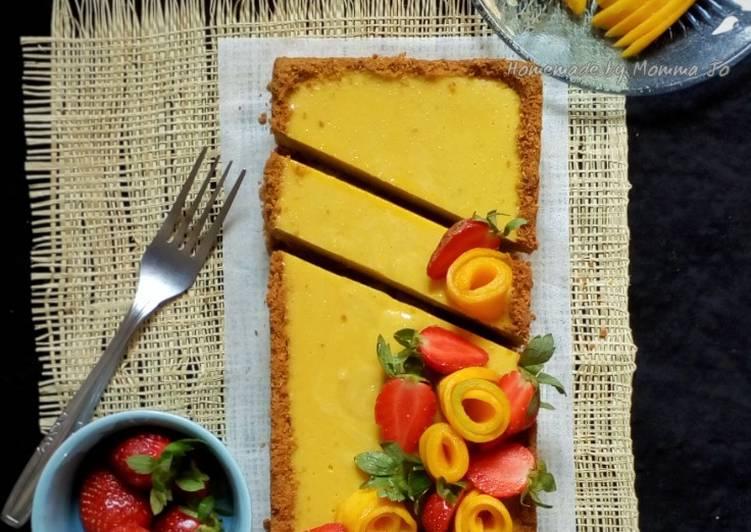 Resep Mango Mousse Tart (dengan agar)