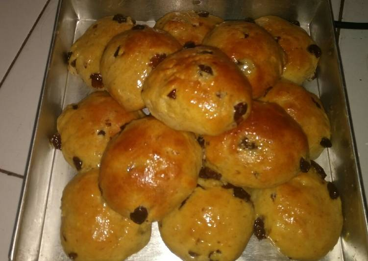 Resep Roti Kismis (Tanpa Ulen)