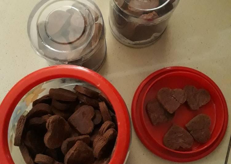 Resep Cookies Cetak rasa Coklat