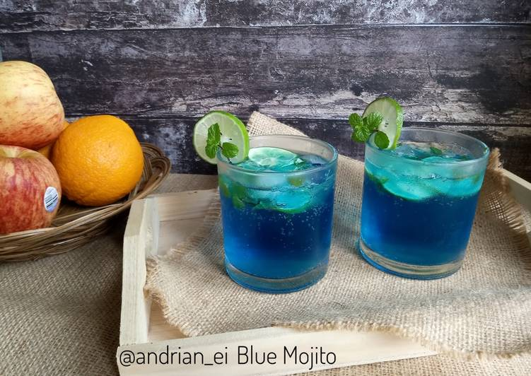 Resep Blue Mojito