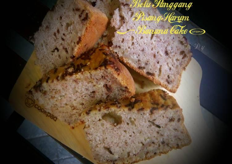 Resep Bolu Panggang Pisang Harum (Banana Cake)