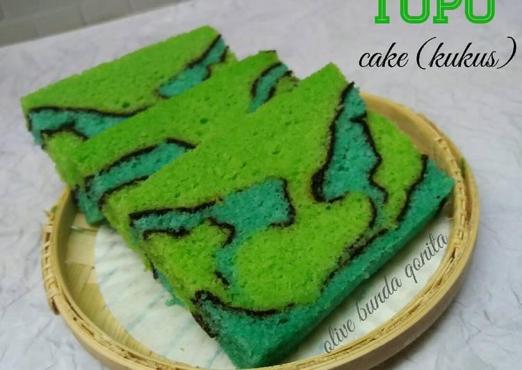 Resep Topo map love cake (kukus)