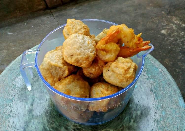 Resep Baso Ikan (siap goreng)