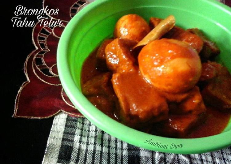 Resep Brongkos Tahu & Telur