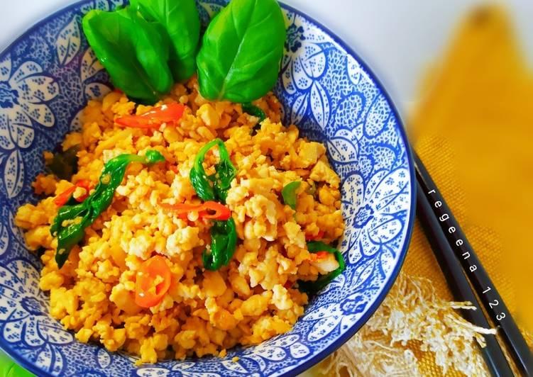 Resep Pad Krapow -Spicy thai basil tofu
