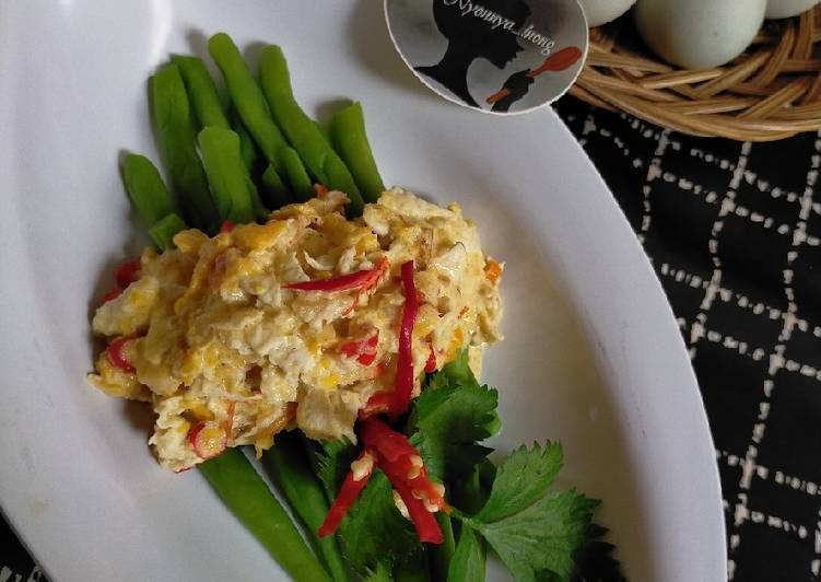 Resep Beans with Salted Egg Sauce