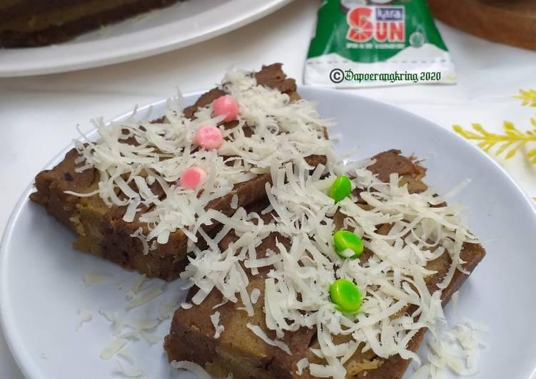 Resep Cake/bolu biskuit lapis kulit pisang(no mixer no ulen)