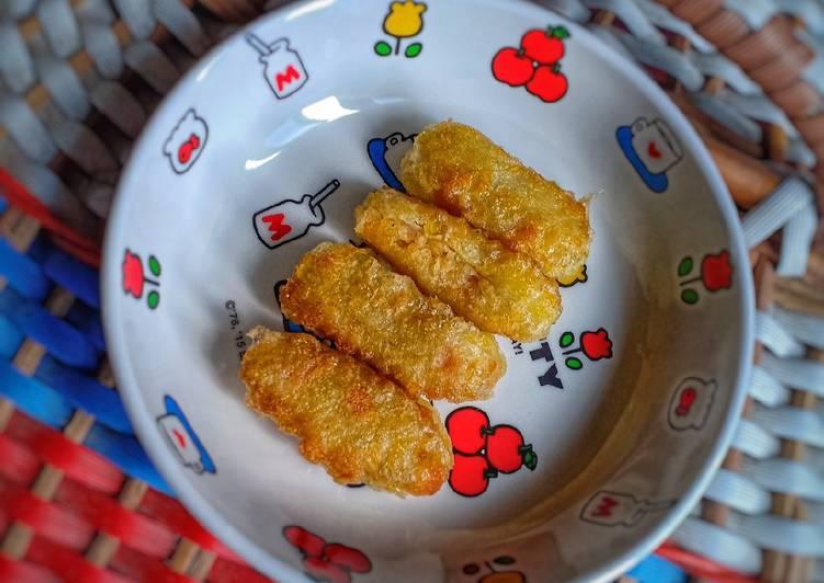 Resep Finger Food (kentang wortel udang) MPASI 8+