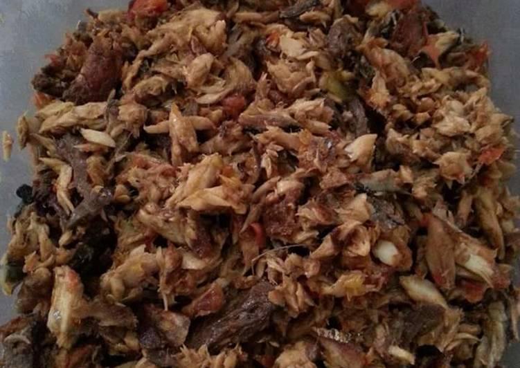 Resep Tongkol suir (masakan Manado)