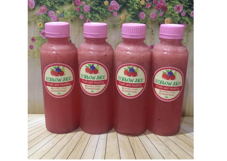 Resep Diet Juice Pomegranate Orange Golden Melon Cranberry