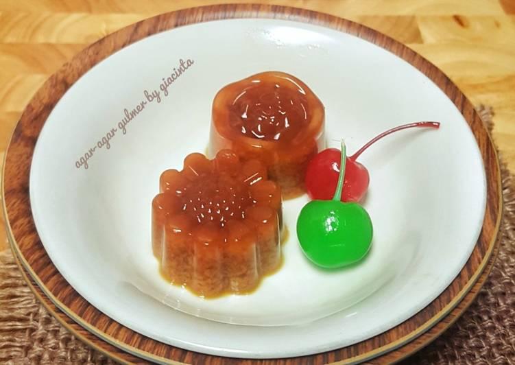 Resep Agar-agar santan gula merah