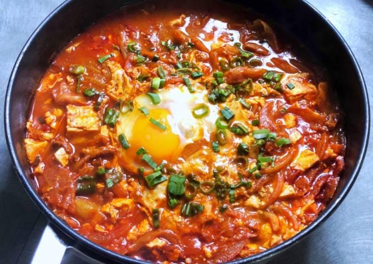 Resep Kimchi Sundubu Jjigae