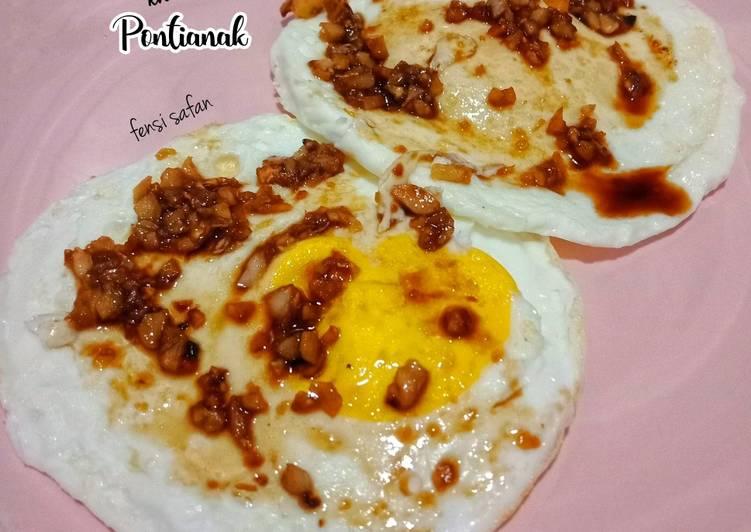 Resep Telur Ceplok khas Pontianak