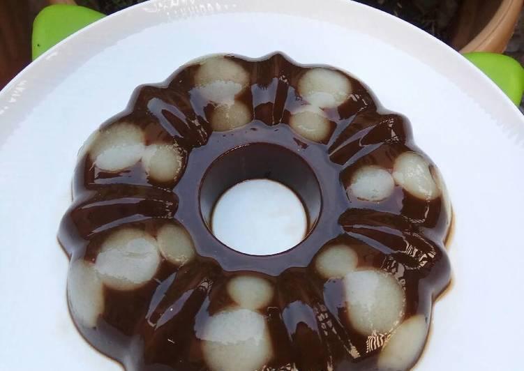 Resep Puding coklat polkadot #bikinbareng