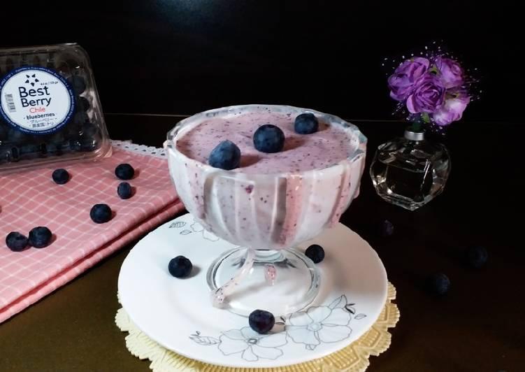 Resep Blueberry Smoothie #Ketopad