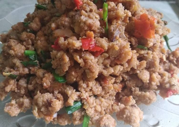 Resep Oncom goreng kucai (isian combro)