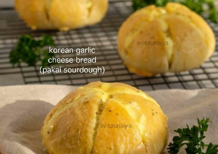 Resep Sourdough Korean Garlic Cheese Bread
