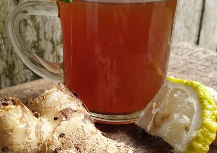 Resep #JSR Wedang Jahe (Imune Booster, Herbal Drink Anti Flu)