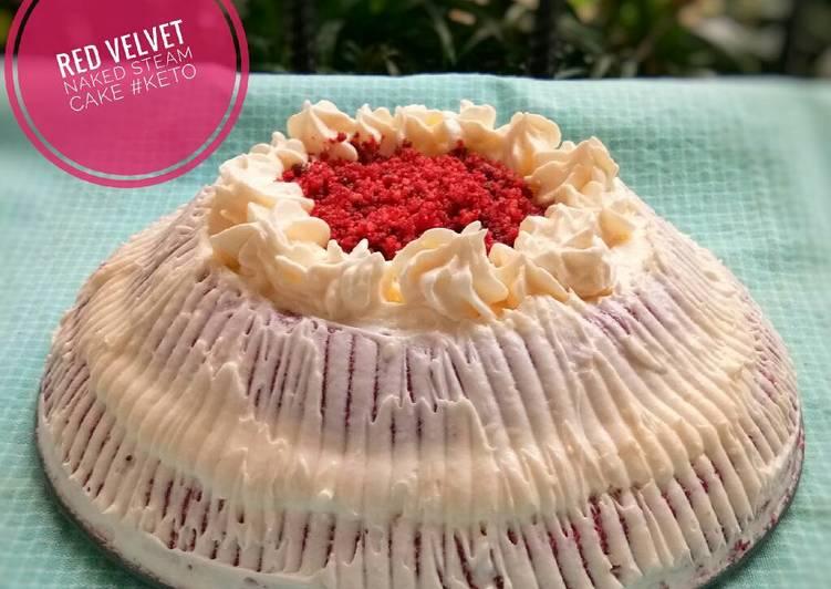 Resep Red velvet steam cake #ketopad