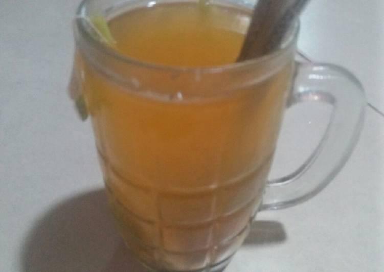 Resep Lemongrass lime tea ginger