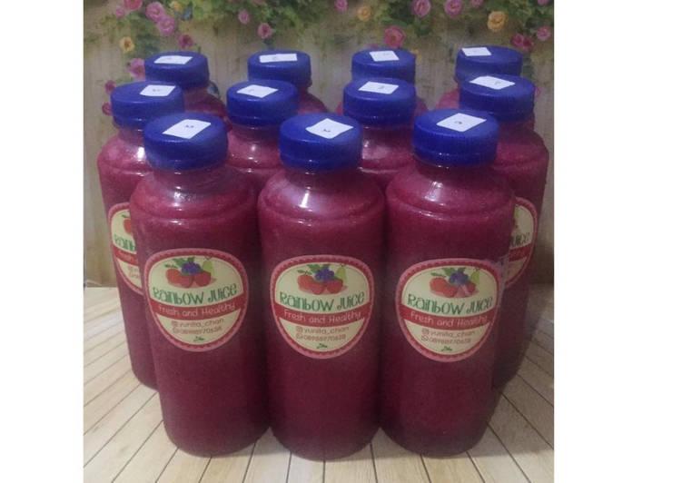 Resep Diet Juice Dragon Fruit Passion Fruit Watermelon Mango
