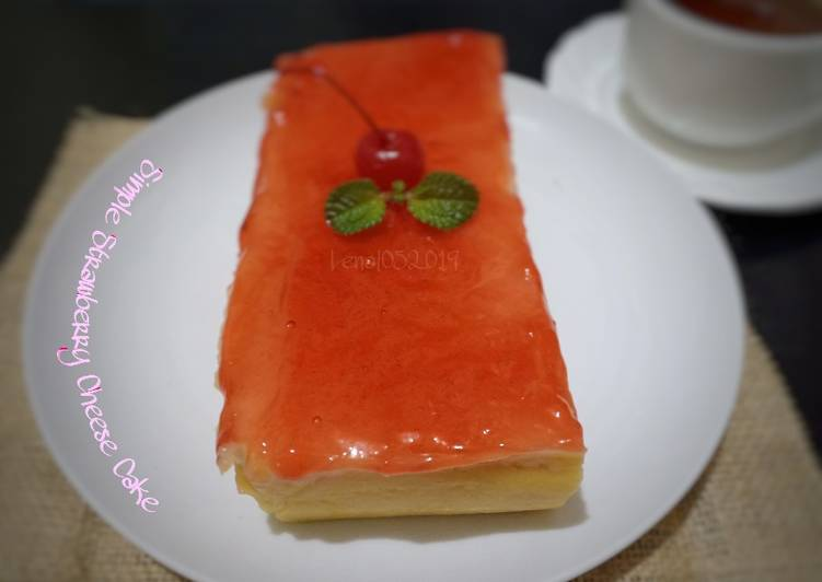 Resep (29.1)Simple Strawberry Cheese Cake